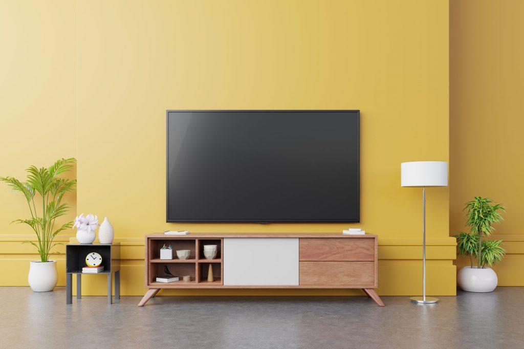 kleur kiezen woonkamer - gele muur